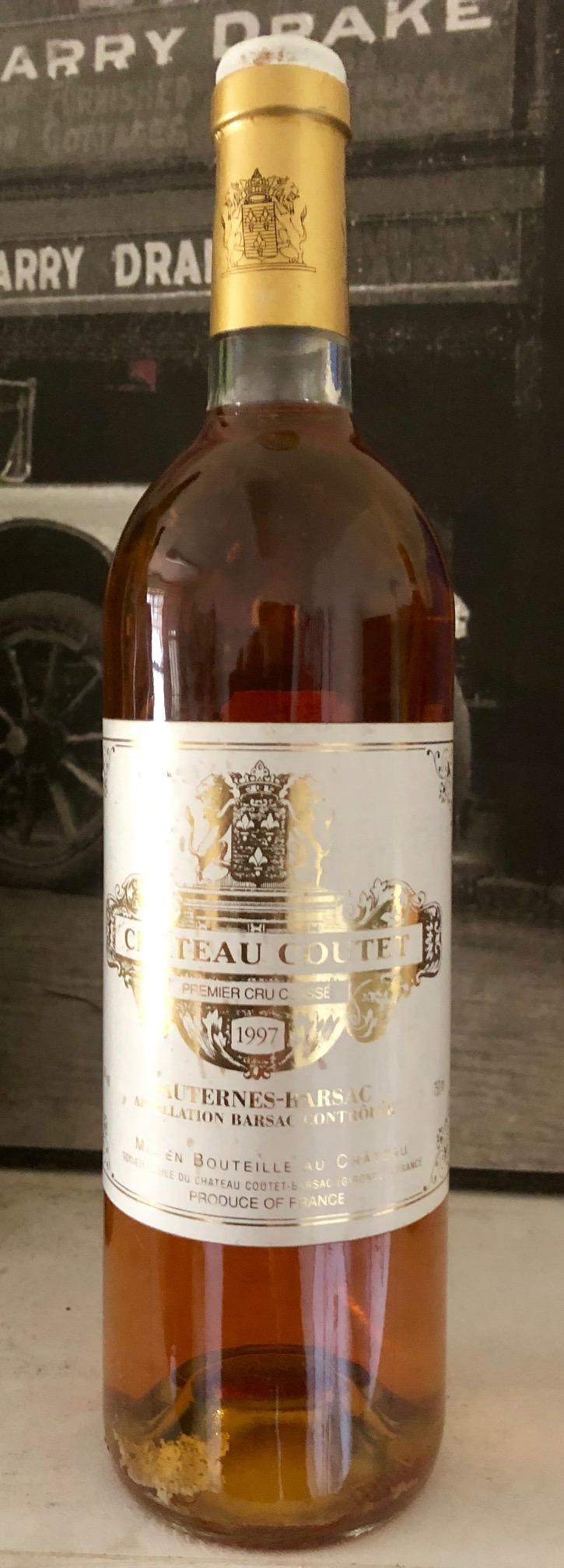 Chateau Coutet - Sauterne Barsac 1997